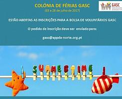 Estão abertas as inscrições para a bolsa de voluntários GASC